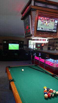 great pool table light with lighted bar