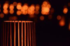 竹を6mm位で咲いて蝋燭を灯しました