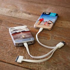 Personalized portable chargers with your photos that charge any device: Such a cool Mother's Day gift!