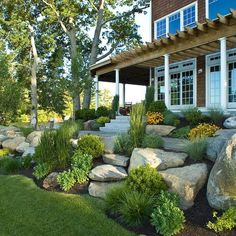 Landscaping Ideas for A Sloped Front Yard . Landscaping Ideas for A Sloped Front Yard . 5 Steps to Create Landscape Mounds Sloped Front Yard, Modern Front Yard, Small Front Yard Landscaping, Front Yard Design, Landscaping With Rocks, Modern Landscaping, Backyard Landscaping, Landscaping Ideas, Front Yards