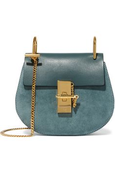 Petrol leather and suede (Calf) Pin and clasp-fastening front flap Designer color: Cloudy Blue Comes with dust bag Weighs approximately 1.3lbs/ 0.6kg Made in Italy