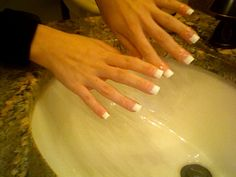 DIY Gel White Glue On Tips Nails- very thorough instructions with photo tutorial!  Must do!