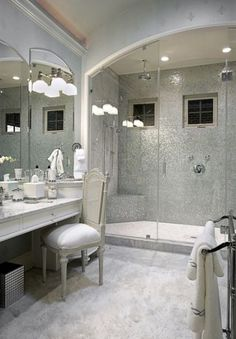 Silver Mosaic Tile - Transitional