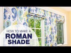 How to Make a Roman Shade Video demonstrates step-by-step how to create a traditional roman shade for your home. Roman shades are a functional and stylish wa. Diy Blinds, Diy Curtains, Gypsy Curtains, Traditional Roman Shades, Window Coverings, Window Treatments, Modern Roller Blinds, Roman Shade Tutorial, Diy Roman Shades