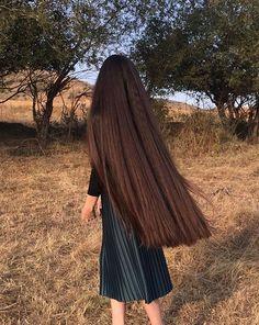 Home Hair Straightening Products Long Brown Hair, Very Long Hair, Long Curly Hair, Curly Hair Styles, Natural Hair Styles, Beautiful Long Hair, Gorgeous Hair, Rapunzel Hair, Pinterest Hair