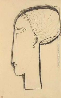 'profile portrait' by amedeo modigliani