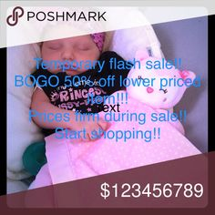 🔥TEMPORARY FLASH SALE!! 🔥BOGO 50% off 2nd item💥 ✨Buy one item full price get 50% off second item.  (lower priced item get the discount price!).✨ ☄️no other deals during this sale! ☄️ ☄️applies to all items posted! ☄️  🌸Thank you and Happy Poshing 🌸 Other