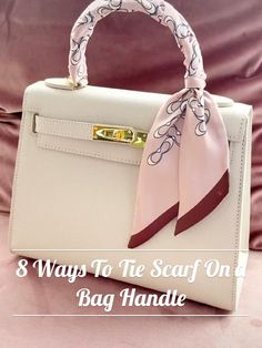 Ways To Tie Scarves, Ways To Wear A Scarf, How To Wear Scarves, Scarf On Bag, Diy Fashion Hacks, Scarf Knots, Clothing Hacks, Womens Scarves, Diy Clothes