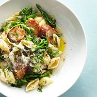 Spicy Chicken Sausage Pasta and Greens  Recipe