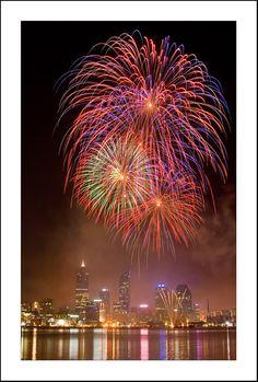 Australia Day Fireworks  - Perth, Western Australia