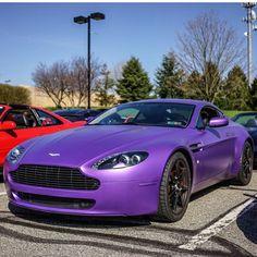 purple Aston Martin