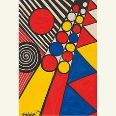 Sotheby's   Auctions - S/2 Calder Gouaches,contemporary art   Sotheby's