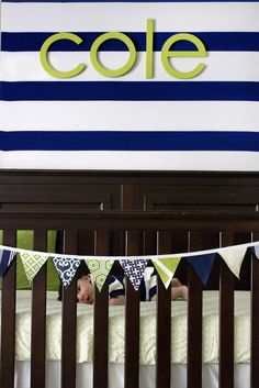Three Men and a Girly Girl: Coles Navy and Green Nursery
