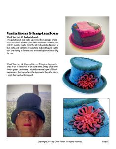 gwenbeads: TUTORIAL How to Make a Top Hat from Felted Wool Sweaters