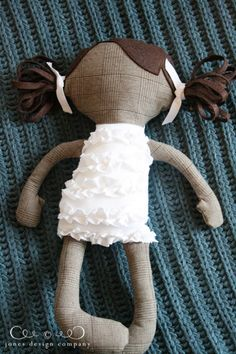 a handmade doll for harper via jonesdesigncompany.com - Their college friend is adopting a baby girl from Ethiopia! This includes the pattern, etc to make your own dolls! Thought you would LOVE this @Amy Lyons McDurham
