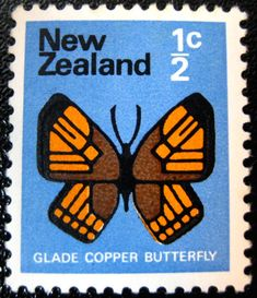 New Zealand half-cent stamp from 1970