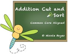 Common Core Aligned Addition Cut and sort printables with sums from 5 to Represent addition and subtraction with ob. Math Addition, Addition And Subtraction, 1st Grade Math, First Grade, Math Subtraction, Language Immersion, Kindergarten Math Activities, Math Groups, Dual Language