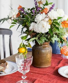 Brabourne Farm: Love .... Big, Messy Bunches - flowers are the BEST centerpieces of all