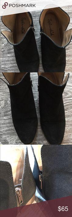 Splendid ankle zip booties EUC! Suede upper, zipper at inner boot, small heel Splendid Shoes Ankle Boots & Booties