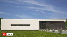 Mc-home.nl B28 ruime moderne bungalow met plat dak en veel glas energieneutraal in staalframebouw
