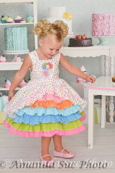 reserved for sarah birthday party confection dress by SoSoHippo