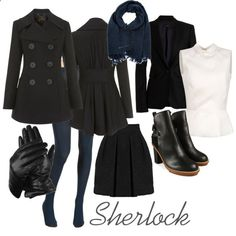 BBC Sherlock-Sherlock Holmes by hfriday on Polyvore<<< I could probably do this for October...