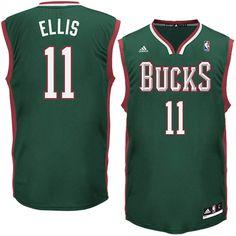 Monta Ellis Milwaukee Bucks adidas Replica Road Jersey - Green