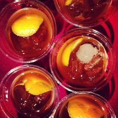 Coriander Old Fashioned from New York City's Booker and Dax Bar at City Harvest's Bid Against Hunger Fundraiser.