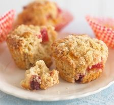 Plum and oat muffin style cakes