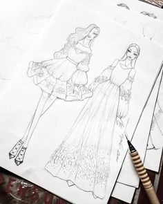 Dress Design Drawing, Dress Design Sketches, Fashion Design Sketchbook, Fashion Design Drawings, Fashion Sketches, Fashion Drawing Dresses, Fashion Illustration Dresses, Fashion Design Template, Fashion Figure Templates