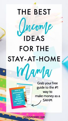 4 Profitable Income Ideas for the Stay-at-Home Mama – Looking for extra money on the side? As a stay-at-home mom there are lots of ways to make money online. Here are four profitable ways to side hustle some extra cash plus grab my FREE guide on the qu Ways To Earn Money, Earn Money From Home, Stay At Home, Work From Home Moms, Earn Money Online, Make Money Blogging, Online Jobs, Way To Make Money, Money Fast
