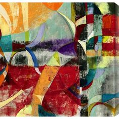 """Gallery Direct Instant Karma I by Sara Abbott Painting Print on Canvas Size: 48"""" H x 48"""" W"""