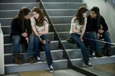 New Moon - Jacob and Bella on the cinema stairs -- I think it means something different to you.