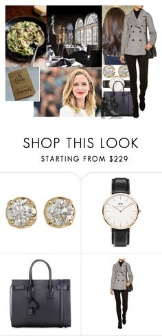 """""""Meeting Maura for lunch at the Witchery and being informed about her engagement + being asked to be her bridesmaid"""" by maryofscotland ❤ liked on Polyvore featuring Hoorsenbuhs, Daniel Wellington, Yves Saint Laurent, Belstaff and L.K.Bennett"""