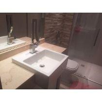Cuba Banheiro Pia Semi Encaixe Quadrada Branca Sobrepor