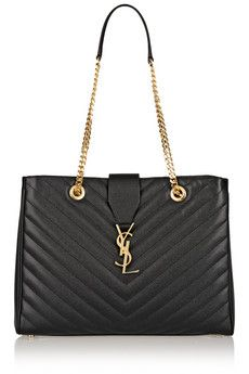 Saint Laurent Monogramme large quilted leather tote | NET-A-PORTER