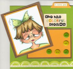 Image is Dizzy Gal from Squigglefly.  Card by Holley Barnhart