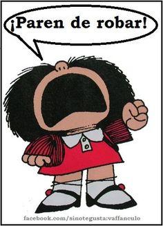 Mafalda mensage u nuestros gobernantes