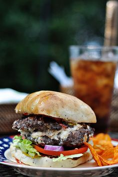 white cheddar - bacon - pimiento cheese stuffed burgers