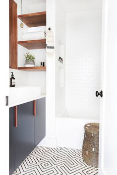 See more images from tiny bathroom before & afters that give us hope on domino.com