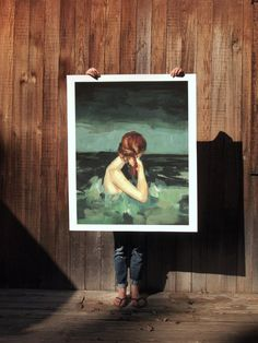 Married to the Sea . extra large wall art . by ClareElsaesser