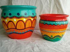 Flower Pot Art, Flower Pot Design, Flower Pot Crafts, Clay Pot Crafts, Painted Plant Pots, Painted Flower Pots, Pots D'argile, Clay Pots, Art Shed