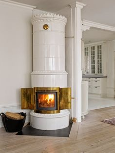 classic scandinavian stove / masonry heater | interior design + decorating ideas