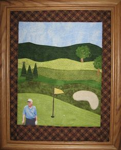 Golf Quilt pattern | crafts | Pinterest | Golf quilt, Golf and ... : golf quilt patterns - Adamdwight.com