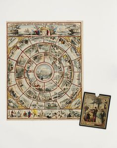 ATour Through the British Colonies and Foreign Possessions; Guy Little Theatrical Photographs        Object:        Board game      Place of origin:        London, England (published)      Date:        ca. 1853 (published)      Artist/Maker:        John Betts (publisher)      Materials and Techniques:        Hand-coloured lithograph on linen