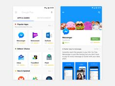Google Play Redesign for Android