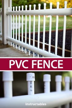 PVC Fence Build a fence out of PVC pipe. Make it stand alone or incorporate it into your existing wood posts. Pvc Pipe Crafts, Pvc Pipe Projects, Backyard Projects, Outdoor Projects, Home Projects, Pipe Fence, Pvc Furniture, Building A Fence, Wood Post