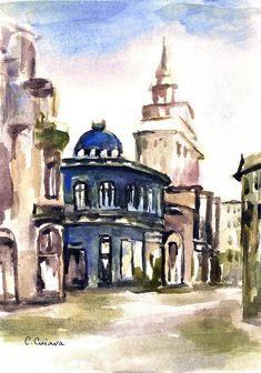 Bucharest Art Print featuring the painting Bucharest by Cuiava Laurentiu Thing 1, Bucharest, All Art, Fine Art America, Taj Mahal, Photographers, Cities, Art Photography, Artists