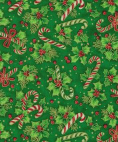 candy canes, ribbon and holly- joanns fabricsw