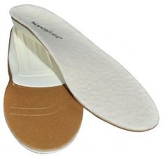 Superfeet woolyWHITE Premium Insoles with 90% Merlino Wool over an orthotic arch support to assist with flat feet, collapsed arches, plantar faciistis, over pronation, and/or supination.  Ideal for casual & dress shoes not to mention boots too.